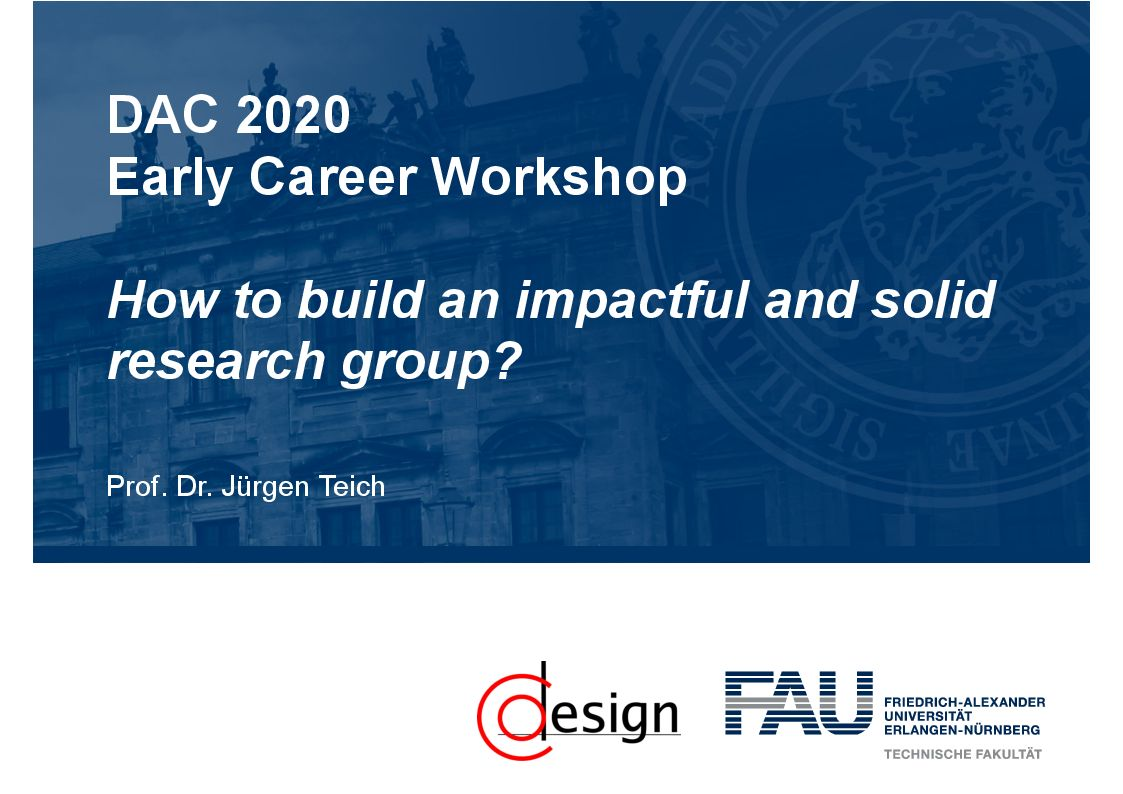 Prof. Dr.-Ing. Jürgen Teich was panelist at the 