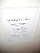 Stanford, Special Seminar